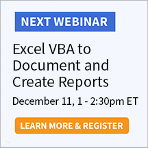 Excel VBA to Document and Create Reports